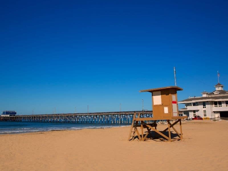 Newport Beach lifeguard stand